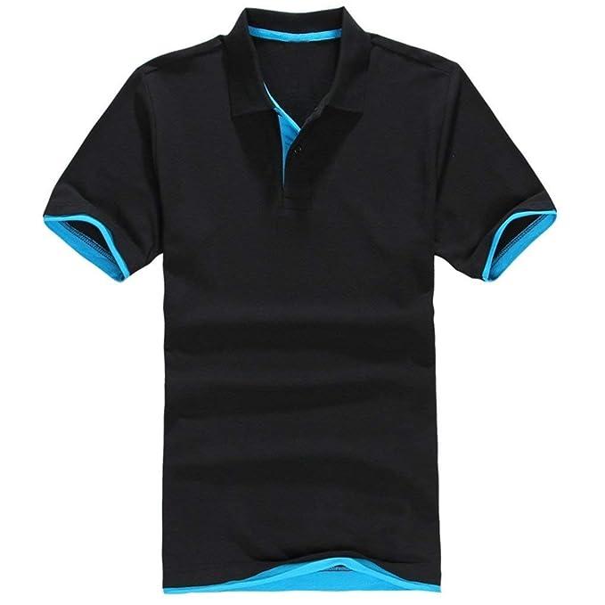 Camisa De Polo para Verano Hombre De Gran De Tamaño con Cuello ...