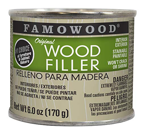 Staining Cherry Wood - FamoWood 36141110 Original Wood Filler - 1/4 Pint, Cherry