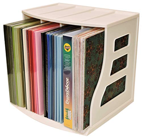 Office Desktop Organizer, Ring Binder Stand, Craft & Scrapbook Paper Rack Box, Vinyl Record Storage Crate Cube, LP Album Holder, Holds Over 70 Records, Lever Arch Shelf, Stackable, Binder Way Brand