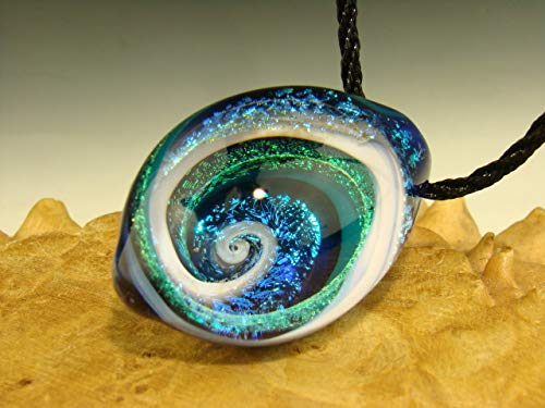 Dichroic Bead - Glass Dichroic Vortex Pendant lampwork Boro Focal Tear Drop Bead by Eli Mazet VGW (Ready to Ship).
