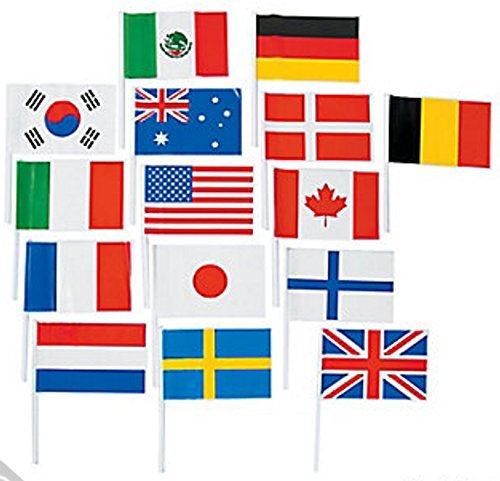 mini country flags - 1