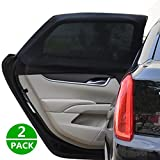 Car Side Window Shade Car Sunshade Baby Rear Window Sun Glare UV Rays Protection For Your Baby and Older Kids Black 2 Pack