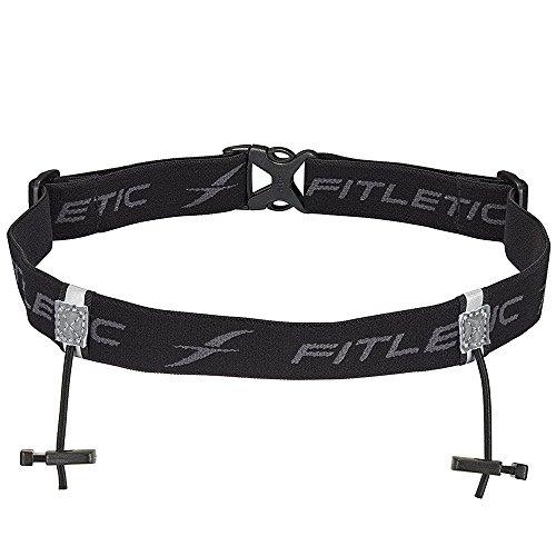 (Fitletic Race Bib Belt, Black)