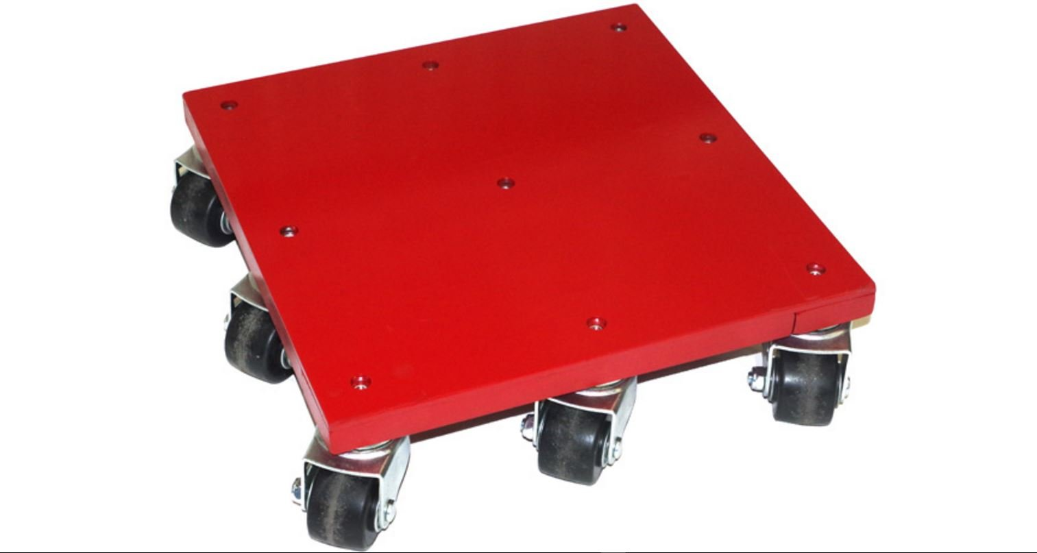 """Industrial Moving Dolly - 5,000 Capacity - 16""""x16"""" Flush Flat Top - Heavy Duty Rigging Skate - Professional Equipment Mover Dollies - 9 Easy Roll Casters - Rotating Swivel & Axle Bearings"""