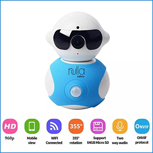 Wireless Baby Monitor, Home Security Hidden Camera Alarm System, Plug 'N Play Robot, Control from Cell/Mobile Device App, 2-Way Microphone,Night Vision, 355° Pan Side-to-Side,Motion Detector