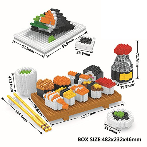 Diy Noodle Costume (Mini Figures Building Bricks Toys,Micro Japanese Sushi Food Diamond Nano Blocks,Best Diy Creator Educational Playset For Boys/Girls/Adults(Non-Lego))
