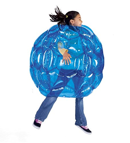 Blue BBOP Buddy Bumper Ball Inflatable Blow Up Giant Wearable Body Bubble Zorb Soccer Suit Durable PVC Vinyl Outdoor Active Play 36'' Diam -