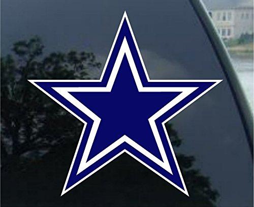 Dallas Cowboys Logo Die Cut 4x4 Decals (Dallas Cowboys Football Car Flag)