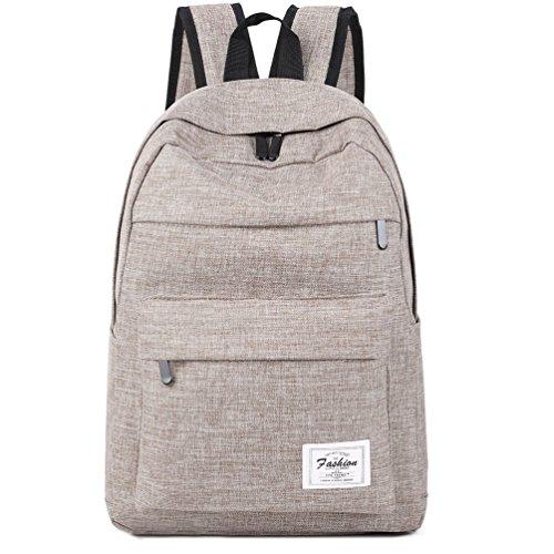 Travel Outdoor Computer Backpack Laptop bag middle (khaki) - 7