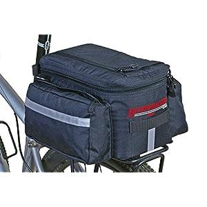Bushwhacker® Mesa Trunk Bag Black – w  Rear Light Clip Attachment    Reflective Trim – Bicycle Trunk Bag Cycling Rack… b67574776ae2b