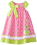 Bonnie Jean Little Girls' Frog Appliqued Sundress, Pink, 4T