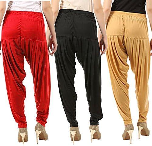 Achetez That Trendz Combo Offer (lot de 3) Coton Viscose Lycra Dhoti Patiyala Salwar Sarouel pour femme (peau foncée, rouge, noir) (peau foncée, rouge, noir, rouge, noir, XXXXL)