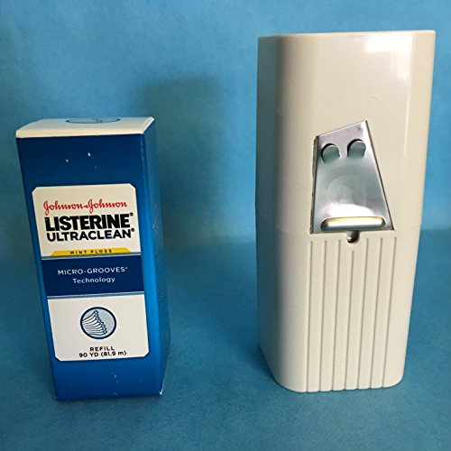 Listerine Ultraclean Mint Shred-Resistant Dental Floss 90 Yeards with Dispenser - 44032