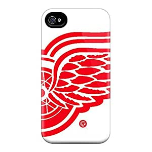 Luoxunmobile333 Scratch-free Phone Cases For Samsung Galaxy Note4- Retail Packaging - Detroit Red Wings