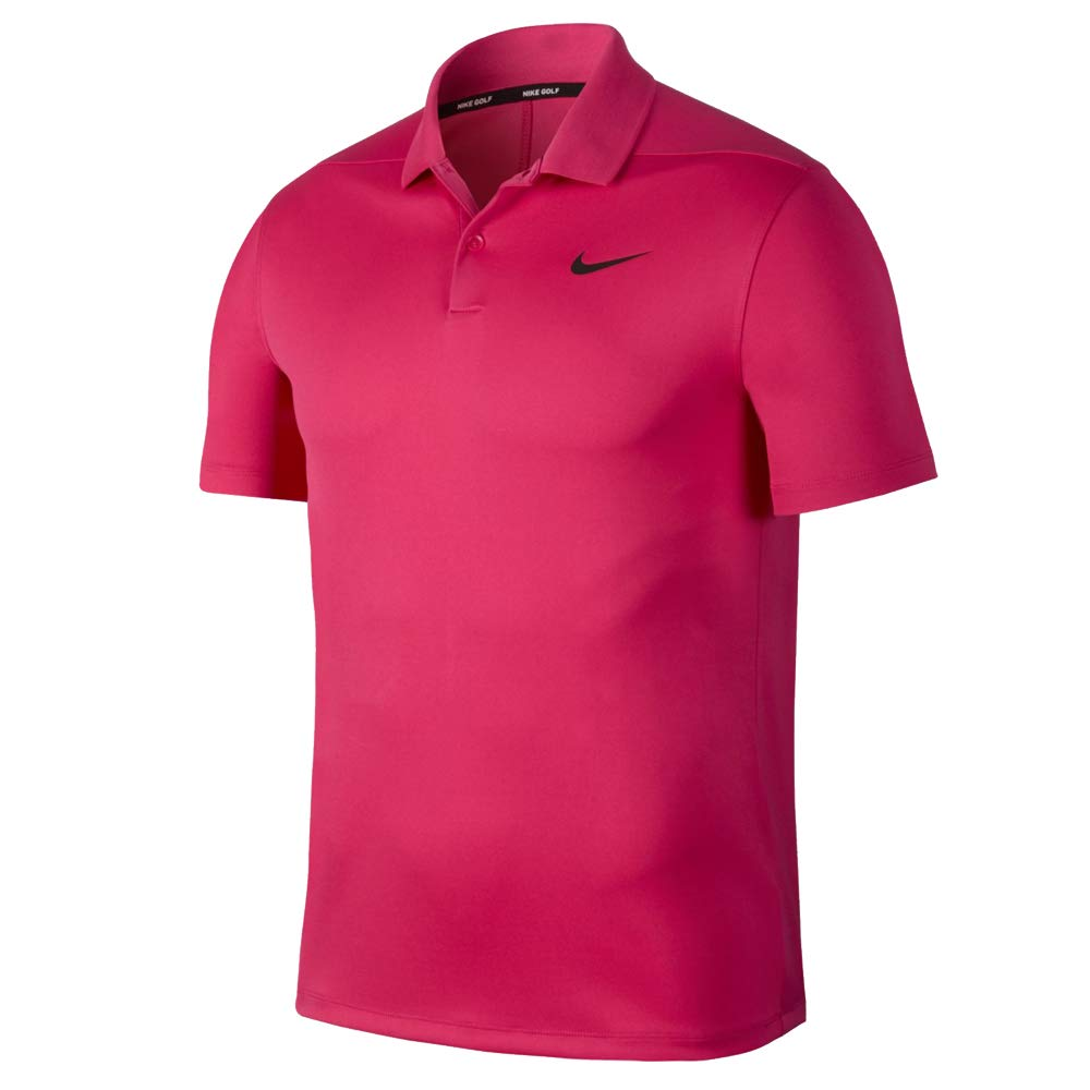 Nike Dri Fit Victory Solid LC Golf Polo 2019 Rush Pink/Black XX-Large by Nike