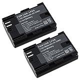 2x Lp-e6 Battery Pack for Canon EOS 5d Mark Ii 60da 5d Mark III Lpe6 2800mah