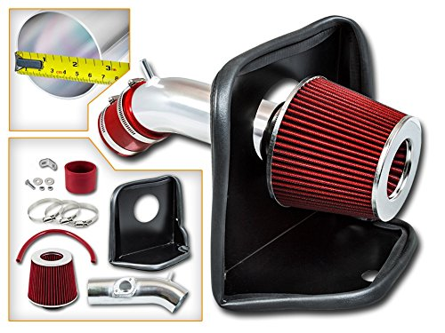 Cold Air Intake System with Heat Shield Kit + Filter Combo RED Compatible For 14-17 Mazda 3 / Mazda 6 2.5L L4
