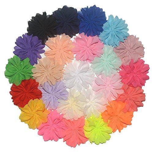 Amazon Beron Pack Of 24 Chiffon Fabric Chiffon Flowers 35