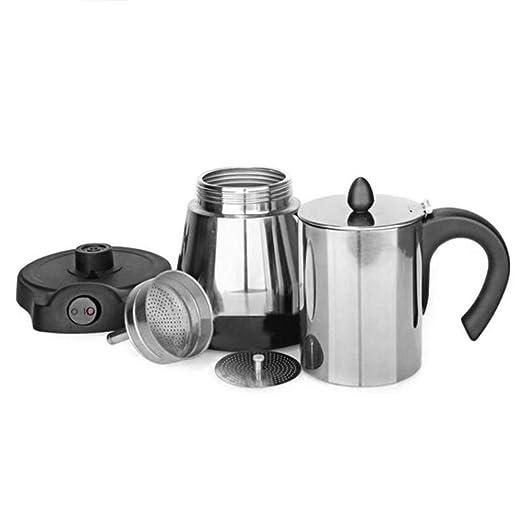 Cafetera eléctrica de acero inoxidable para cafetera moka o ...