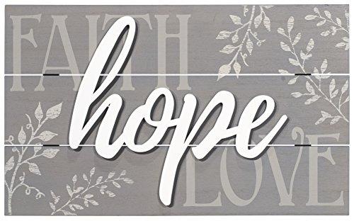 Malden International Designs 20070-01 Faith, Hope, Love Raised Sign (Faith Decor Love Hope Wall)