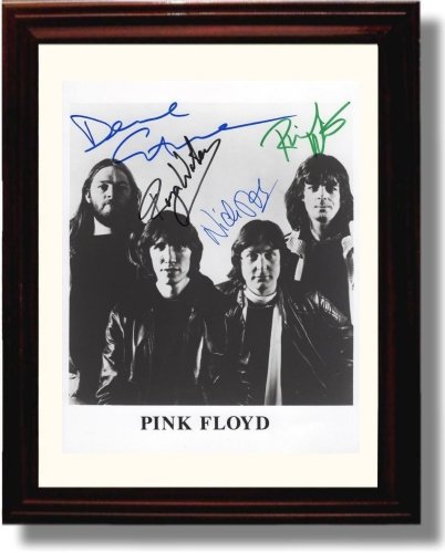 Framed Pink Floyd Autograph Replica (Music Signed Autograph)