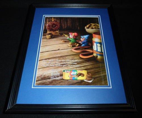 2015-keebler-elves-jif-cookies-11x14-framed-original-advertisement-b