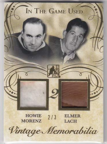 2016 Leaf ITG Vintage Memorabilia #VM2-10 Howie Morenz Elmer Lach #VM2-10 NM Near Mint MEM 2/3 from ITG Vintage Memorabilia