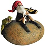 Cheap Top Collection Miniature Fairy Garden and Terrarium Gnome Playing Fiddle with Frog Statue