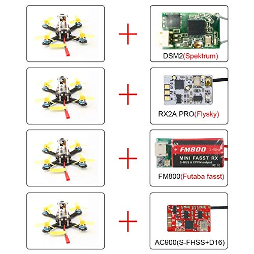 Wikiwand LDARC Flyegg V2 5.8G Brushless OSD Cam DSM2 RX Mini FPV RC Racing Drone PNP by Wikiwand (Image #2)