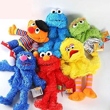 changshuo Felpa Marioneta Marionetas De Mano 30 Cm Elmo Big Vird Cokkie Monster Anime Toys Soft Stuffed Toy para Bebés Niñas Niños Regalo Entrega Aleatoria