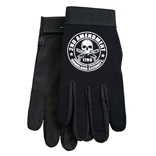 Black Mechanics Style Gloves (Hot Leathers Mechanic Durable Mechanic 2nd Amendment Gloves (Large))