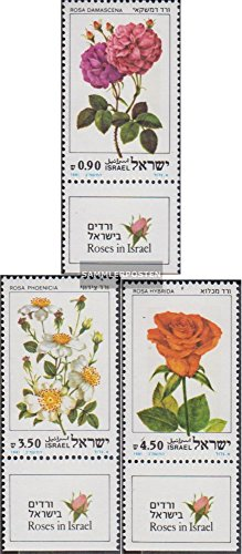Israel 864-866 with Tab (complete.issue.) 1981 Rosen (Stamps for collectors) plants ()