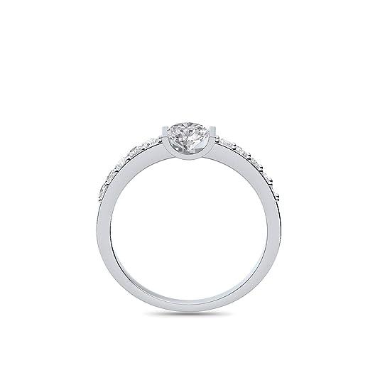 Compromiso anillos con circonita + estuche! Anillo de compromiso matrimonio idea petición boda idea Anillo de plata Anillo Plata 925 circonios tales como el ...