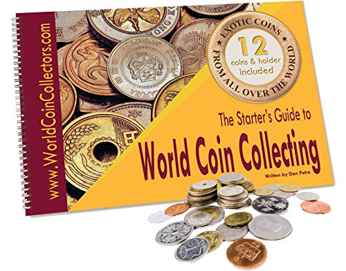 Zaioo ♥ The Starter's Guide to World Coin Collecting + 12 Coins from All Over The World + Coin Holder Page from Zaioo