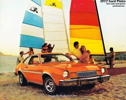 1977 Ford Pinto and Squire Wagon 12-page Original Car Sales Brochure ()