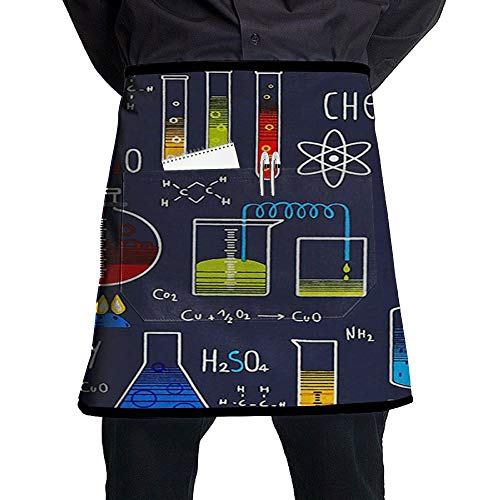 GHDSKH Geek Chic Large Allover Navy Waist Aprons Commercial Restaurant Home Bib Spun Poly Polyester Kitchen for Unisex (Chic Bistro)