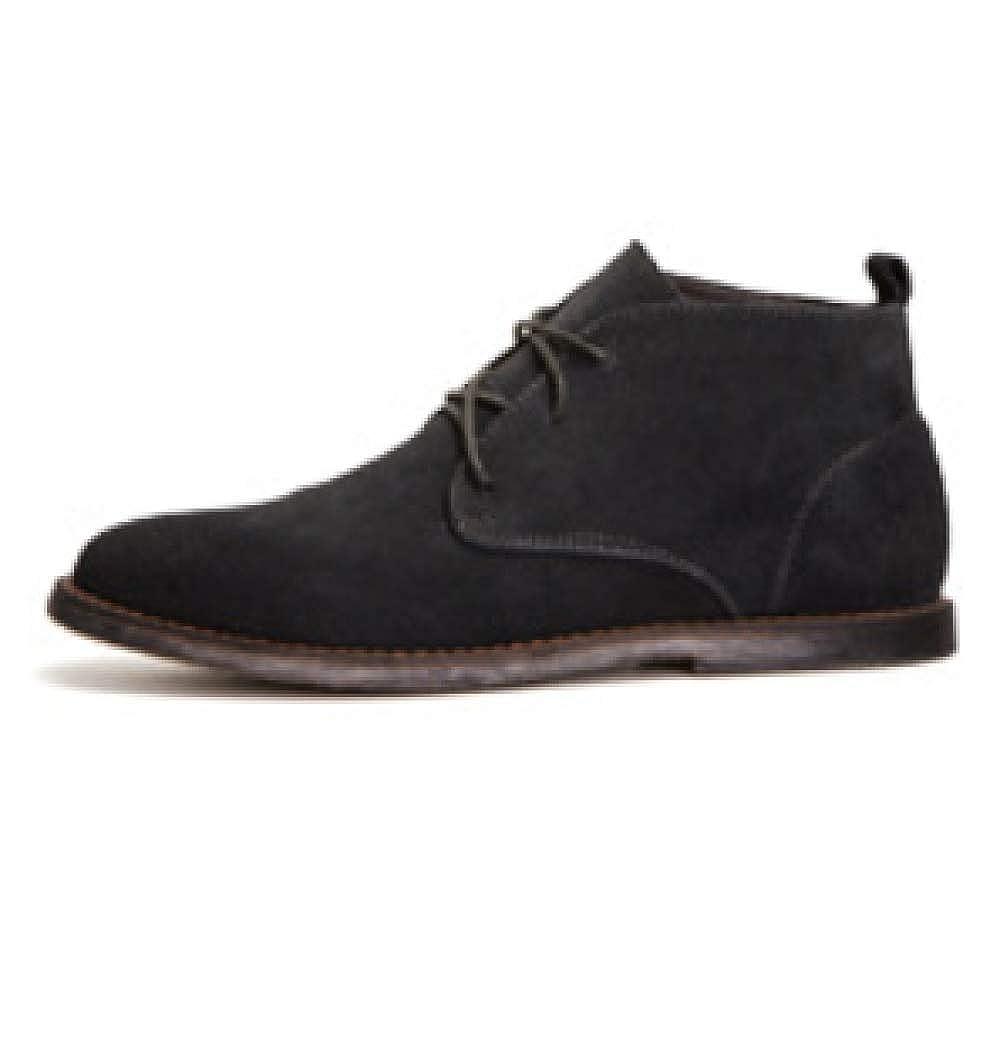 WDYY Frühjahr und Herbst Hohe Herrenschuhe schwarz Mattleder British Martin Stiefel schwarz Herrenschuhe 2fccc8
