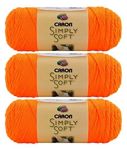 Caron Bulk Buy Simply Soft Yarn Solids (3-Pack) Neon Orange H97003-9774