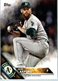 2016 Topps Series 2 #660 John Axford Oakland Athletics Baseball Card in Protective Screwdown Display Case