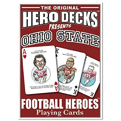 Hero Decks - Ohio State - Playing Cards: Toys & Games