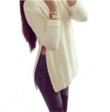 Bohai Slit Side Hem Long Shirt Blouse Shirt Women s Jumper Weitgeschnitten  Long Sleeved Top Top 2a65e91459