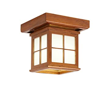 WSHceilinglamp Lámpara de Techo de Madera Ahorro de energía ...