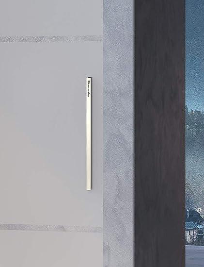 Mampara de Ducha Frontal - 1 Hoja Fija y 1 Puerta Corredera - Cristal de Seguridad de 8 mm - Modelo Luna 2 (112-116 cm): Amazon.es: Bricolaje y herramientas