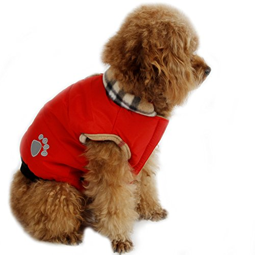 PAWZ Road Pet Clothes Dog Coat Jacket Winter Apparel Puppy Costume Red M (Costumes For Puppies)