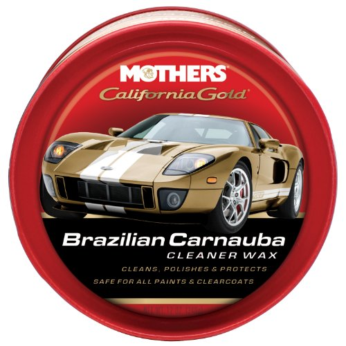 Mothers 05500-6 California Gold Brazilian Carnauba Cleaner Wax Paste - 12 oz, (Pack of (Gold Metal Wax)