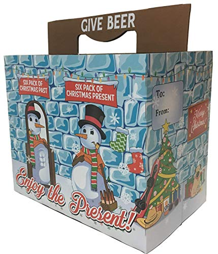 Snowman with a Six Pack Beer Six-Pack Holder (Set of 3) - Jokes and Novelties Gifts - Great for Beer or Soda - Celebrate Birthdays, New Jobs, House Warmings and - Snowman Beer