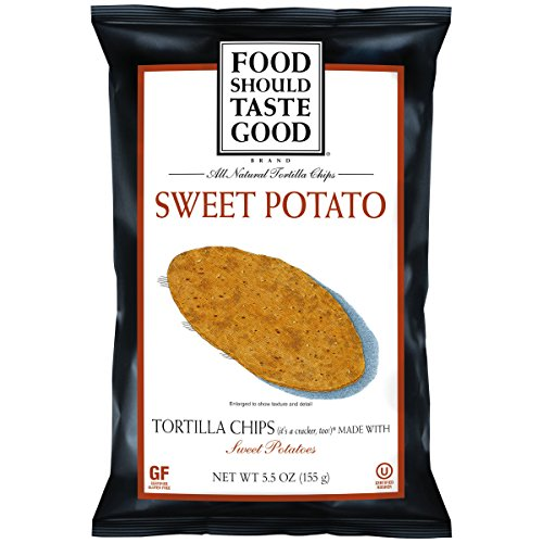 Food Should Taste Good, Tortilla Chips, Sweet Potato, Gluten Free Chips, 5.5 (Kosher Baked Goods)