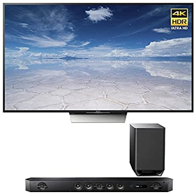"Sony XBR-55X850D 55"" Class 4K HDR Ultra HDTV with Sony HT-ST9 Hi-Res 7.1 Channel Sound Bar with Wireless Subwoofer"