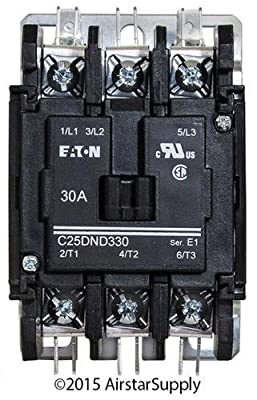 Eaton / Cutler Hammer C25DND330A 50mm DP Contactor , 3-Pole , 30 Amp , 120 VAC Coil Voltage