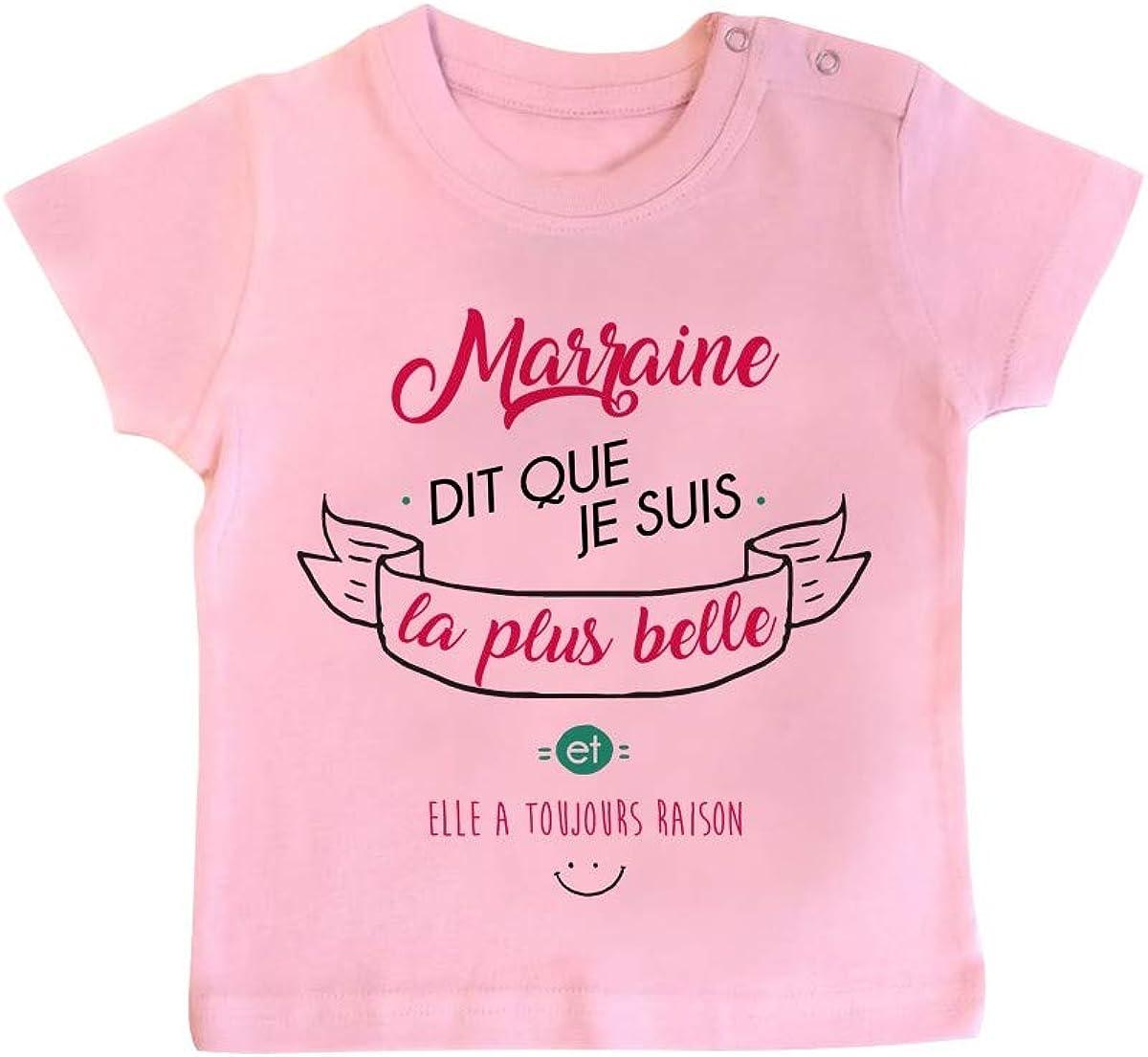 Inconnu T-Shirt b/éb/é Marraine Dit Que Je suis la Plus Belle